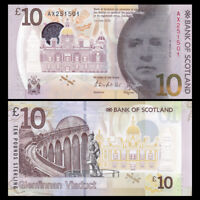 Scotland 10 Pounds, 2017, P-NEW, Polymer, Scotland bank, Banknote, UNC