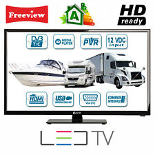 """MOTORHOME CARAVAN BOAT 12V 20"""" Inch HD LED Digital Freeview TV 12 Volt USB PVR"""