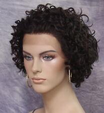 100% Human Hair Lace Front Wig Curly Off Black Hair piece Looks lighter in Pic
