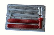 "DIY CNC Aluminium Soft Plastic Lure Bait Mold Ring Fry Worm Molds 4"" 2 cavity"