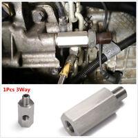 "1/8"" NPT Oil Pressure Sensor Tee to M10X1.0 Adapter Turbo Supply Feed Line Gauge"