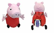 "PEPPA PIG PLUSH BACKPACK! RED DRESS MEDIUM STUFFED DOLL BAG FIGURE 13-14"" NWT"