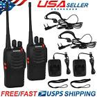2 Baofeng BF-888S Walkie Talkie Long Range 2way 16CH 400-470MHZ Ham Radio UHF