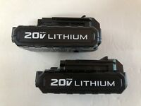 NEW Porter Cable PCC681L 2 PACK 20V 20 VOLT MAX Lithium-Ion Battery