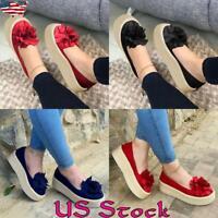 Women Casual Slip On Platform Flat Ladies Fashion Espadrille Flat Loafers Shoes