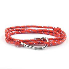 Silver Hook Bracelet Red White Blue Dotted by Maya Bracelets NEW W/ Bag!