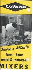 Equipment Brochure - Gilson - Batch a Minute Cement Mixer - c1964 (E3912) - S