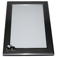 New Holland/Ford Blue Tractor Picture Frame BOXED - Farming Gift Brushed Chrome