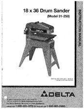 Delta 31-250 18x36 Drum Sander Instruction Manual