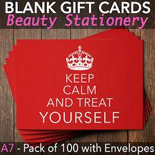 Beauty Salon Gift Voucher Template Blank Card Coupon Nail Massage x100+Envelopes