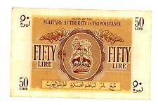 Libya ... P-M5 ... 50 Lire ... (1943) ... *XF* ... PAPER ERROR
