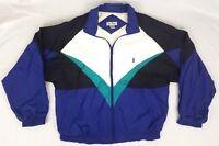 Vintage 90's Windbreaker Bill Blass Men's L Jacket/Coat Full Zip Color Block