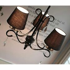 6pcs Candle Lampshades Crystal Chandelier Wall Lamp Droplight White Lamp Shades
