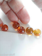 Baltic amber sphere ball round undrilled light medium cognac certified genuine