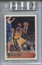 KOBE BRYANT BGS 9 1996-97 TOPPS BASKETBALL #138 ROOKIE RC LAKERS .5 AWAY *READ*
