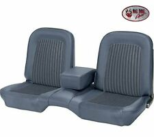 1968 Ford Mustang COUPE Front & Rear Bench Seat Upholstery Blue Made by TMI
