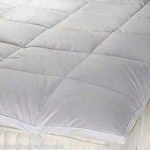 HOTEL DUCK FEATHER & DOWN QUILTED MATTRESS TOPPER ENHANCER DOUBLE OR KING SIZE