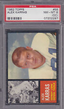 1962 Topps #58 Alex Karras Graded PSA 8 (OC)