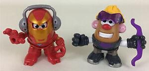 "Marvel Mr Potato Head Mini Mixable Mashable Iron Man Hawkeye 3"" Figures Lot 2016"