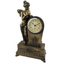 STEHENDE SCHÖNHEIT Uhr Tischuhr Kaminuhr Polystein Farbe BRONZE 27 cm