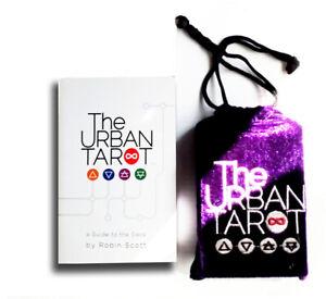 The Urban Tarot by Robin Scott : 1st Ed Deck & Velvet Bag.. Very Rare