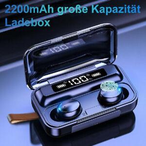 TWS Kopfhörer Bluetooth 8D 5.0 Touch Control In-Ear Ohrhörer Wireless Headset DE