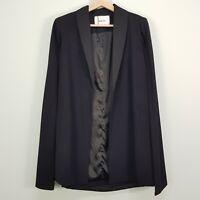 SHEIKE Womens Size S or 10 Black Cape Blazer Jacket
