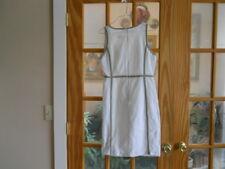 MICHAEL KORS Off White/Beige with Brown Trim SLEEVELESS SHEATH DRESS Size 8