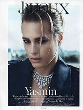 Publicité Advertising 2012 YASMIN  joaillier bague collection bracelet montre