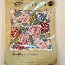 Vintage Needlepoint Pillow Kit Something Special Roses. Vintage