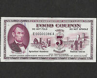 Food Stamp Coupon 1971 E00000386A $5.00  SCRIP US Dept Of Agriculture