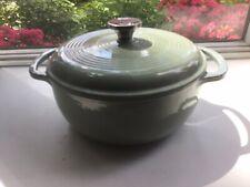 New listing Lodge Aqua Green Enamel Cast Iron Dutch Oven 4.5 Qt Lightly Used 2 Handle, Lid