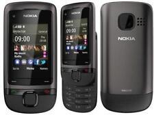 Brand New Nokia C2-05 Black Grey Slide 3G Unlocked Phone 1 Year Warranty