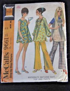 McCall's pattern 9661 Maternity Bathing Suit Top & Pants Size 122 Bust 34 Uncut