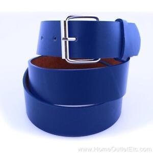 Plain Leather Belt Snap-On Roller Buckle Solid Unisex Sports Team Golf Baseball