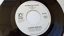 """CLAUDIA ANGELICA - Un paraiso en el desierto RARE 1989 LATIN POP 7"""" Mexico"""