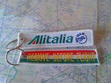 Alitalia remove before flight keyring keychain Italia Italy