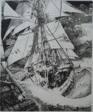 Philippe MOHLITZ 1941 Gravure Soulèvement Puissant et Soudain des Eaux de Mer146