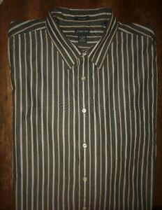 Men's St. John's Bay Long Sleeve Striped Button Front Shirt Size 2XLT