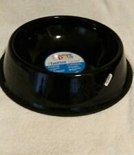 Platinum Pets Stainless Steel Dog bowl. Black. Chip rust and fade resistant xlg