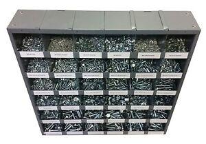 2,540 piece Metric Class 8.8 Nut Bolt & Washer Assortment with Metal Storage Bin