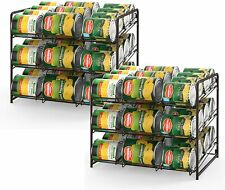 Stackable Can Rack Organizer Storage for 72 cans for Kitchen Cabinet,Counter-top