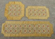 Vintage French Textile Three Table Mats Set X46