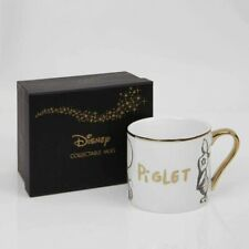 DISNEY COLLECTABLE WINIE THE POOH PIGLET   GOLD RIM MUG FROM WIDDOP & CO
