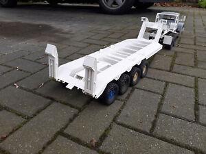 Aufliger Rc Truck  60to M747 Schwerlast  Transportanhänger 1:16