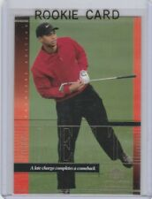 TIGER WOODS ROOKIE CARD Premier Edition GOLF RC Trading PGA Tour UPPER DECK