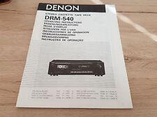 Originale Denon Bedienungsanleitung für DRM-540