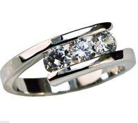 Audrey Anniversary 1.2 carat cz Ladies Ring Platinum overlay ring size 6