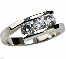 Audrey Anniversary 1.2 carat cz Ladies Ring Platinum overlay ring size 10