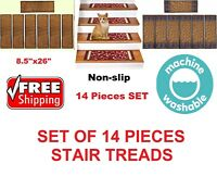 Rugsmart Rubber Backing, Skid-Resistant, Carpet Stair Treads -SET OF 14